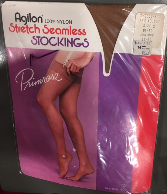 b3c8a13a2 Vintage WOOLWORTH Woolco Primrose Agilon nylon STOCKINGS