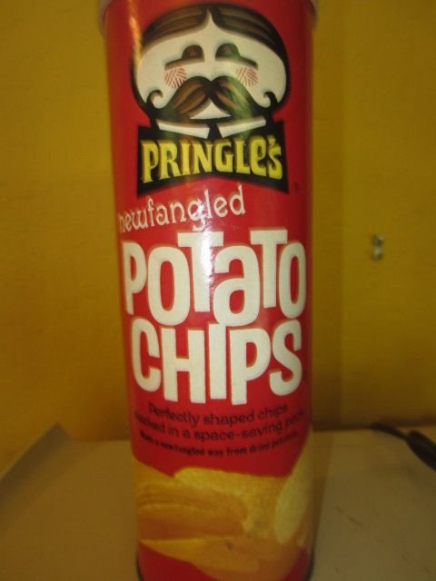 1970s Pringle S Newfangled Potato Chips Tube Can With