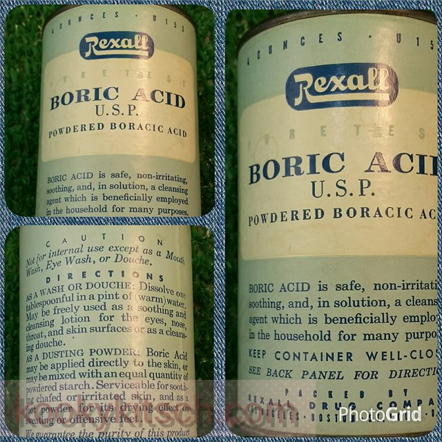 Boric acid douche