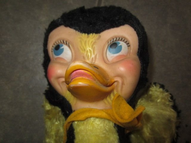 Vintage Rubber Face Stuffed Gund Duck Anthropomorphic Character J ...
