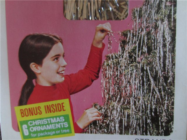 Vintage doubl glo icicles christmas tree tinsel w