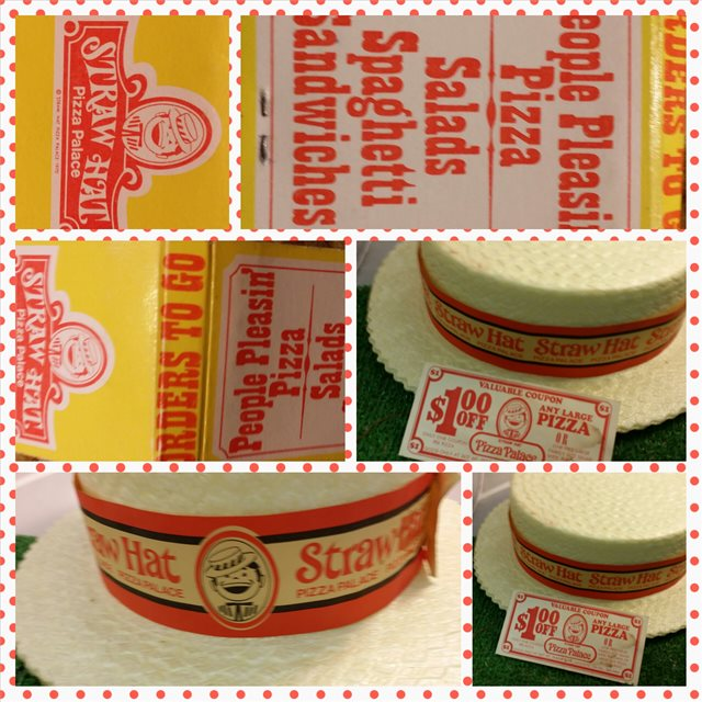 Vintage Straw Hat Pizza Palace 1 00 Valuable Coupon Lafayette Ca