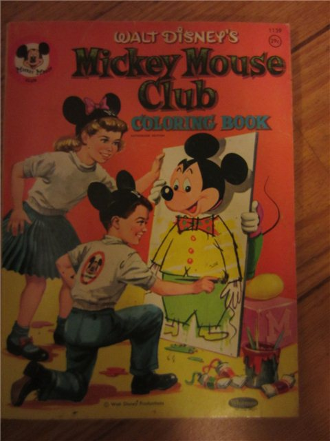 Vintage Whitman 1956 Walt Disney's Mickey Mouse Club ...
