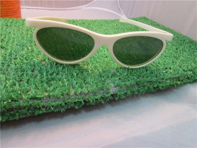 Grant Lens Sunglasses  vintage white foster grant ff77 lens sunglasses green lenses