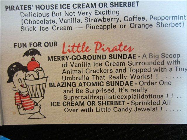 Pirates House Dessert Island Menu